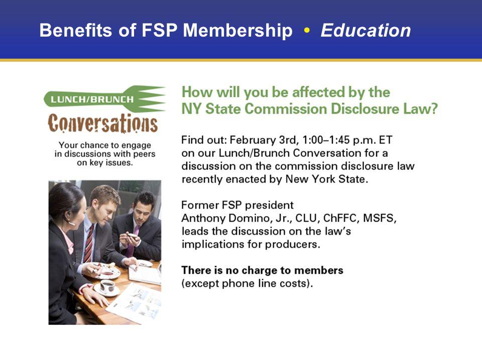 Benefits of FSP Membership Education