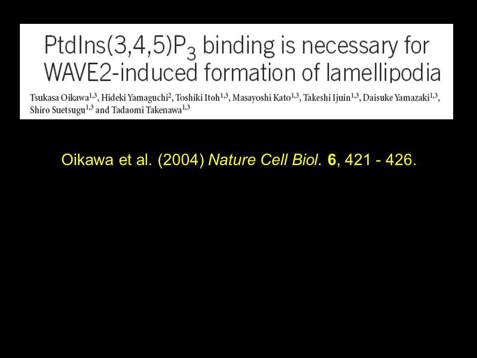Oikawa et al. (2004) Nature Cell Biol. 6, 421 - 426.