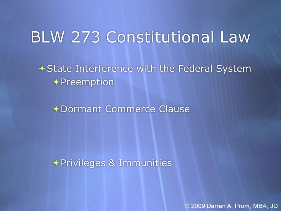 BLW 273 Constitutional Law  Individual Rights (State Action First)  Freedom of Speech Issue  Types:  Individual Rights (State Action First)  Freedom of Speech Issue  Types: © 2009 Darren A.