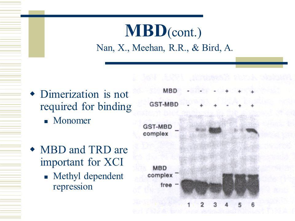 MBD (cont.) Nan, X., Meehan, R.R., & Bird, A.