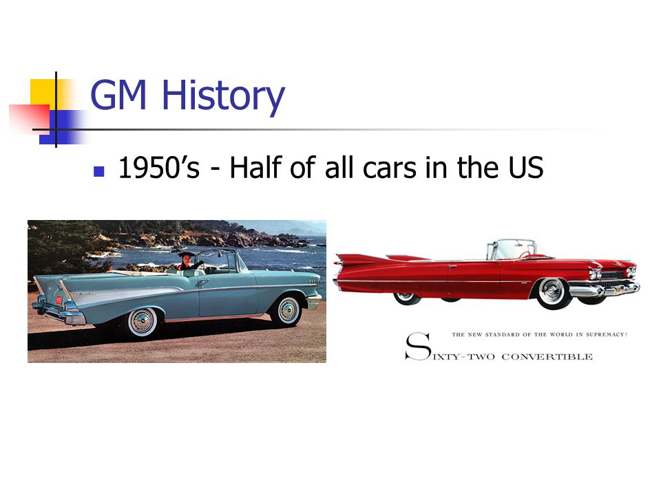 GM History 1980 - 853,000 to 284,000 worldwide