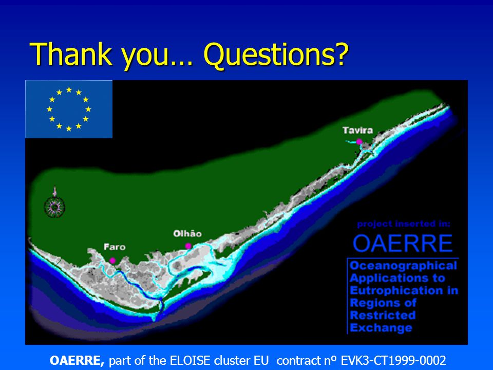 Thank you… Questions? OAERRE, part of the ELOISE cluster EU contract nº EVK3-CT1999-0002