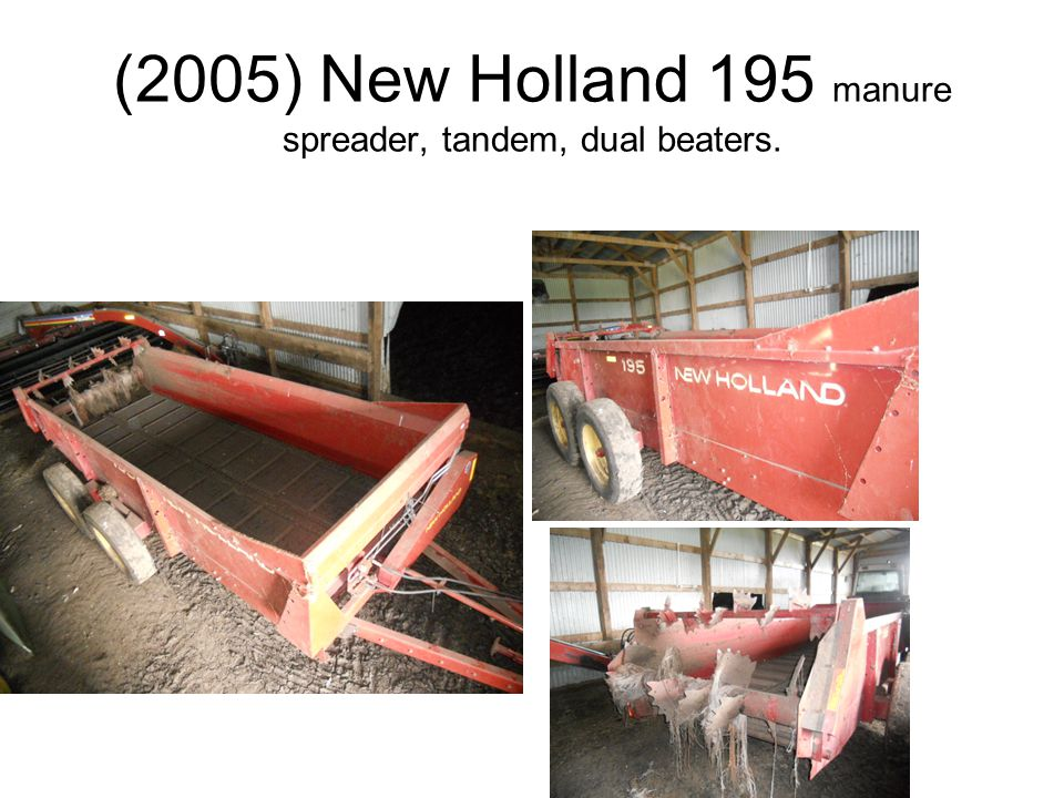 (2005) New Holland 195 manure spreader, tandem, dual beaters.