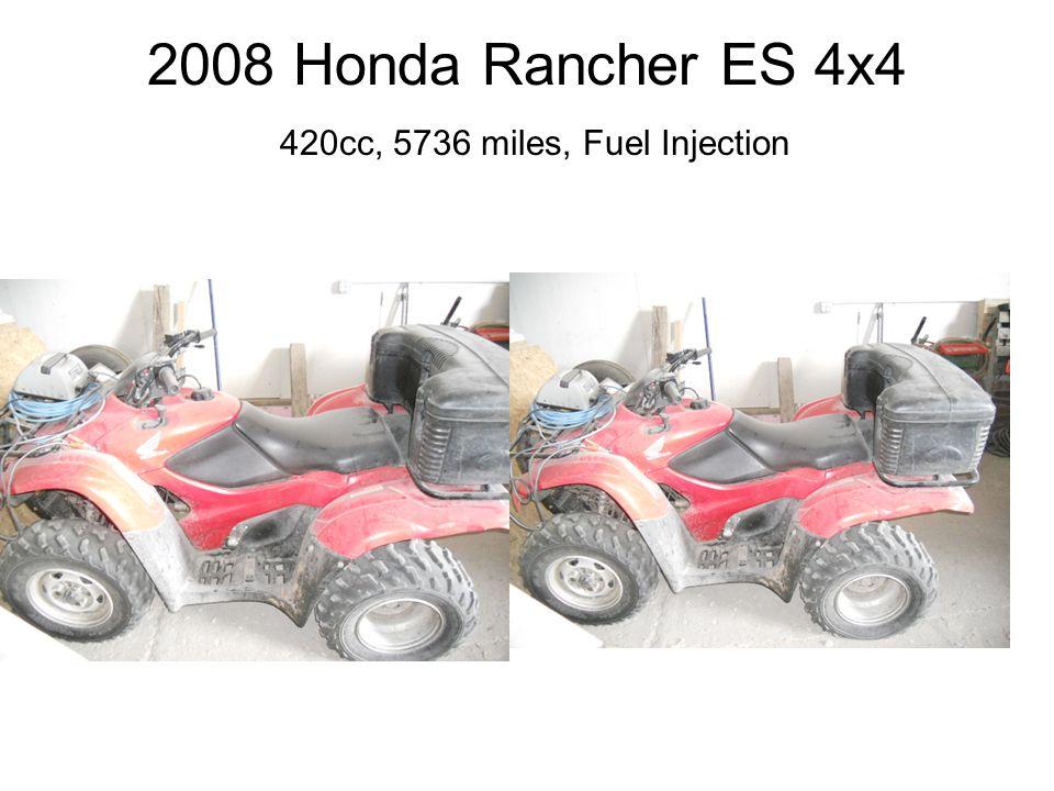 2008 Honda Rancher ES 4x4 420cc, 5736 miles, Fuel Injection