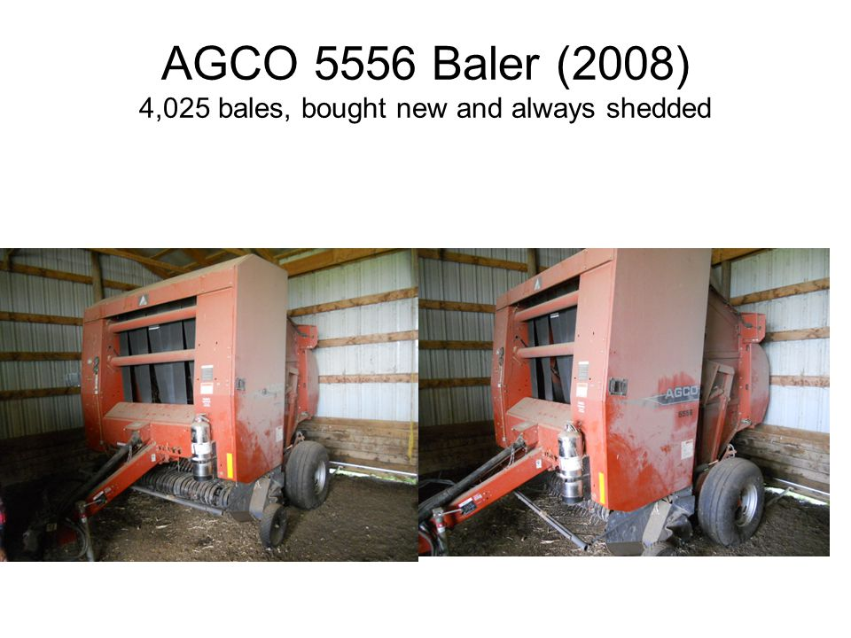 AGCO 5556 Baler (2008) 4,025 bales, bought new and always shedded