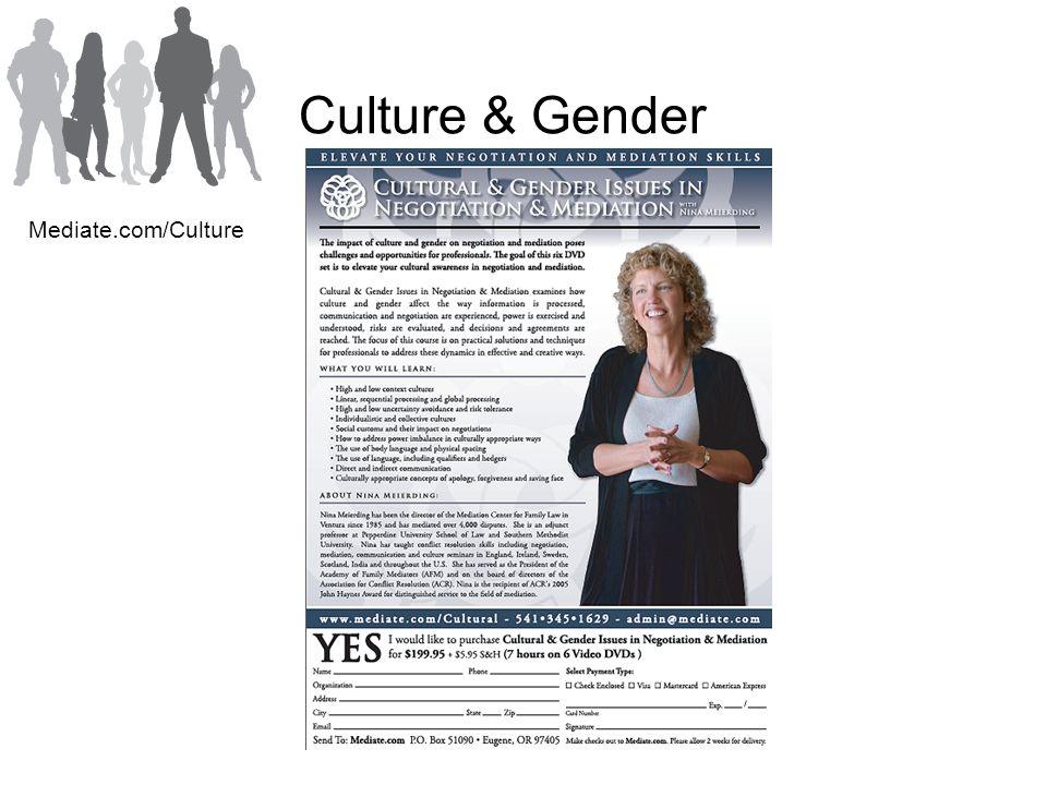 Culture & Gender Mediate.com/Culture