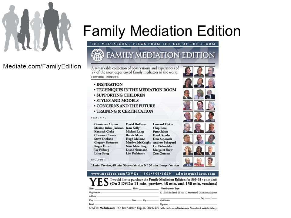 Family Mediation Edition Mediate.com/FamilyEdition
