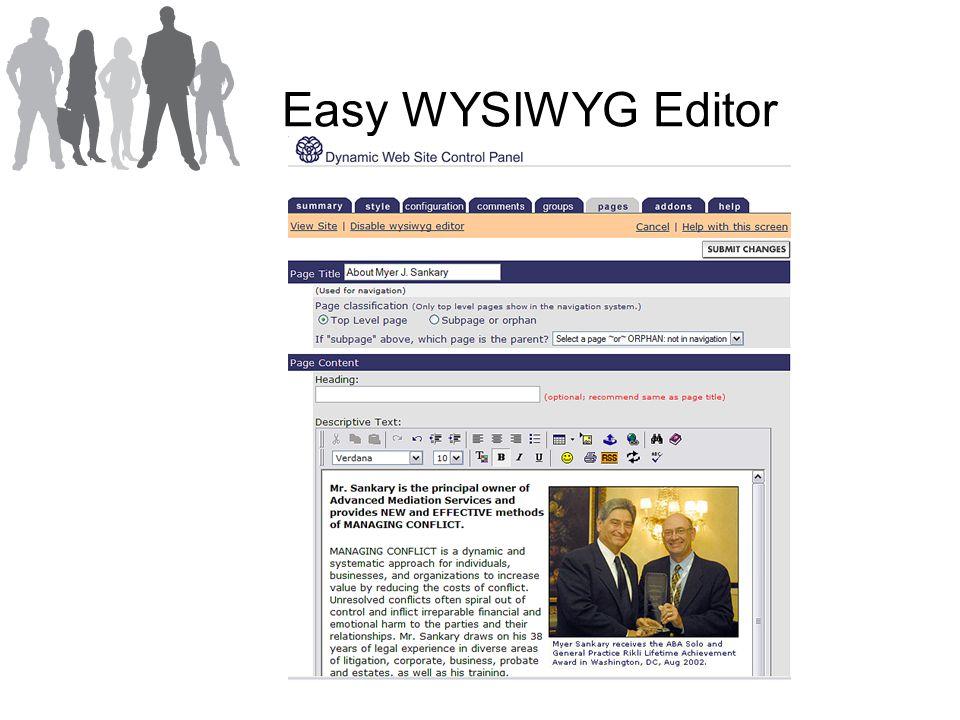 Easy WYSIWYG Editor