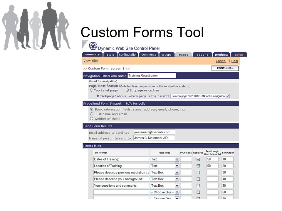 Custom Forms Tool