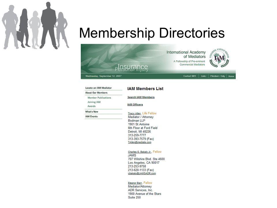 Membership Directories