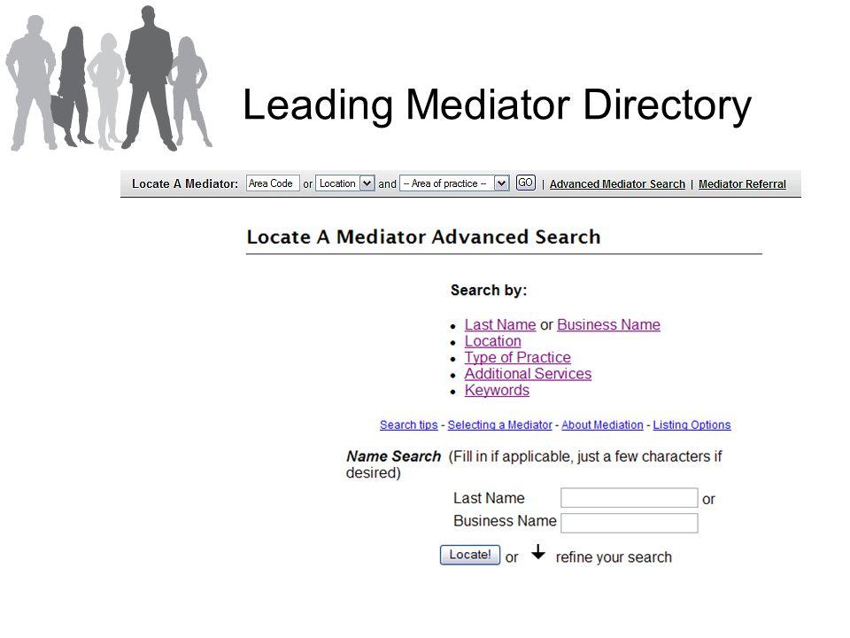 Leading Mediator Directory