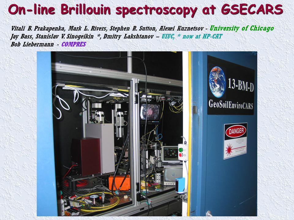 On-line Brillouin spectroscopy at GSECARS Vitali B.