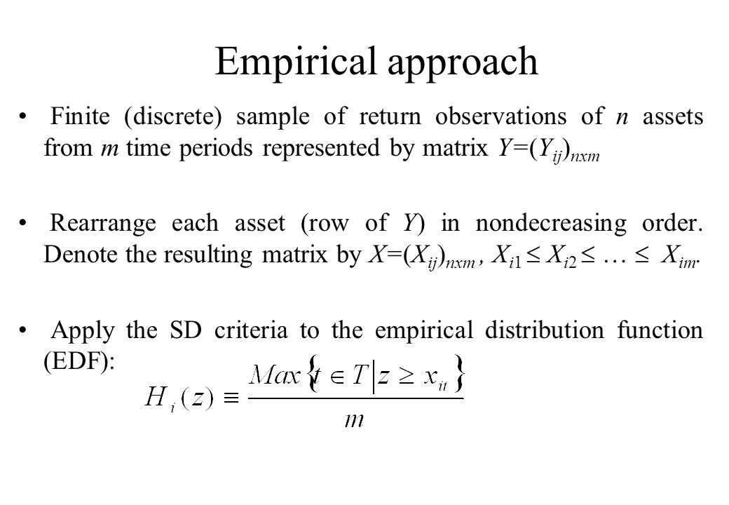 Separating hyperplane theorem Since both the portfolio set and the dominating set are convex, if y 0 is SSD efficient, there exists a separating hyperplane which strongly separates  and  0 (y 0 ).