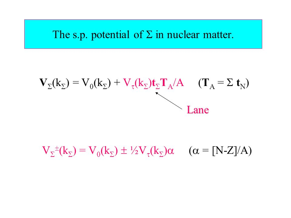 V  N  [MeV]  [MeV]  u [MeV] 22 Experiment 422  56 428  158 17  3 (A) HF   n,  p F 24.7 236.6 6.065.2 SC 250.1 367.7 7.519.6 (B) V  = 0F 349.9 300.2 7.013.4 S.C.