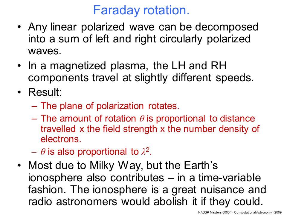 NASSP Masters 5003F - Computational Astronomy - 2009 Faraday rotation.