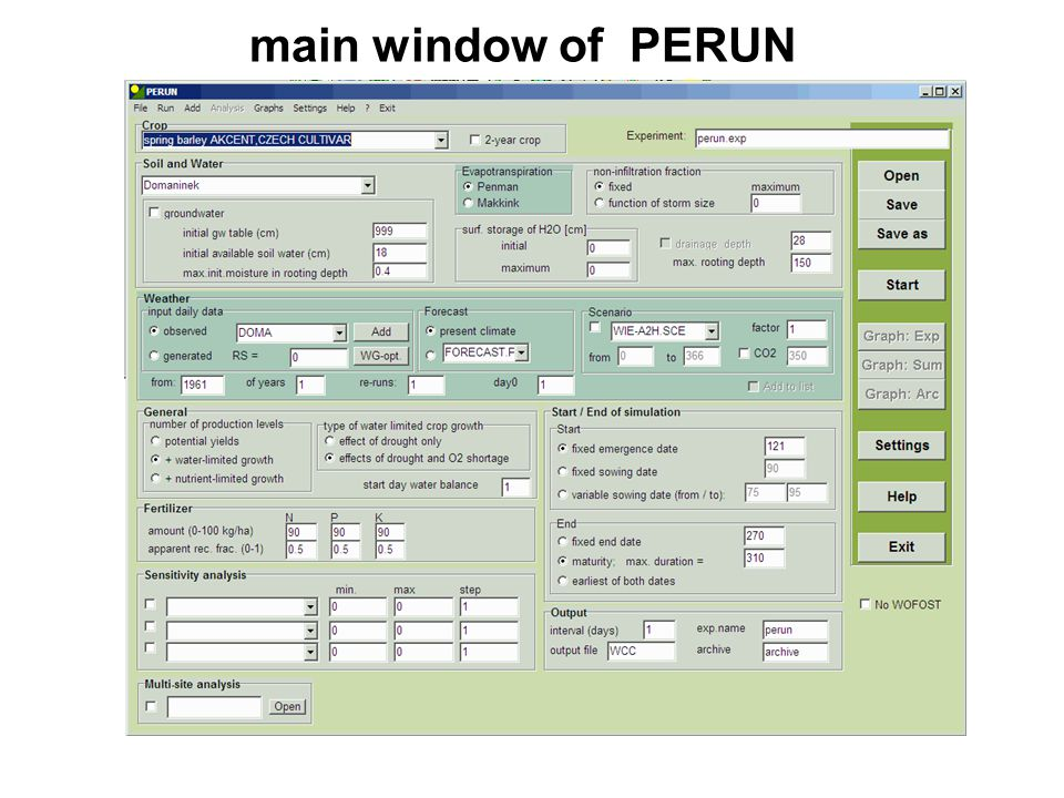 main window of PERUN
