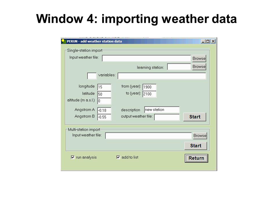 Seasonal analysis (AG-01) Meteo input: - observed data - 1 year - no forecast - no scenario