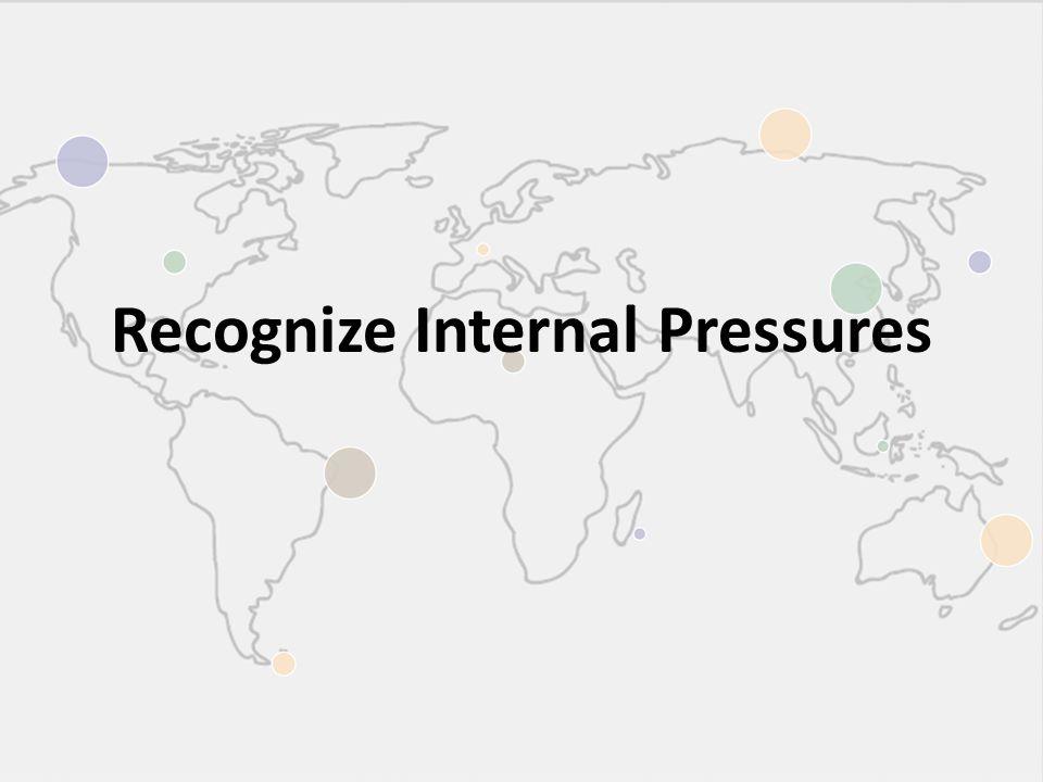 Recognize Internal Pressures
