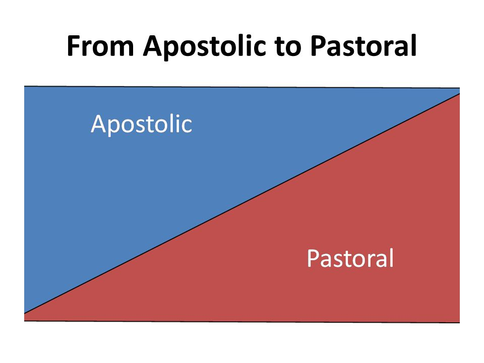 From Apostolic to Pastoral
