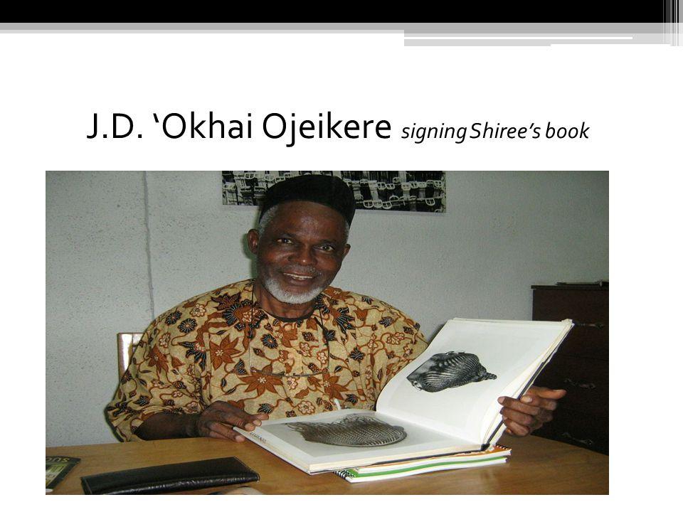 J.D. 'Okhai Ojeikere signing Shiree's book