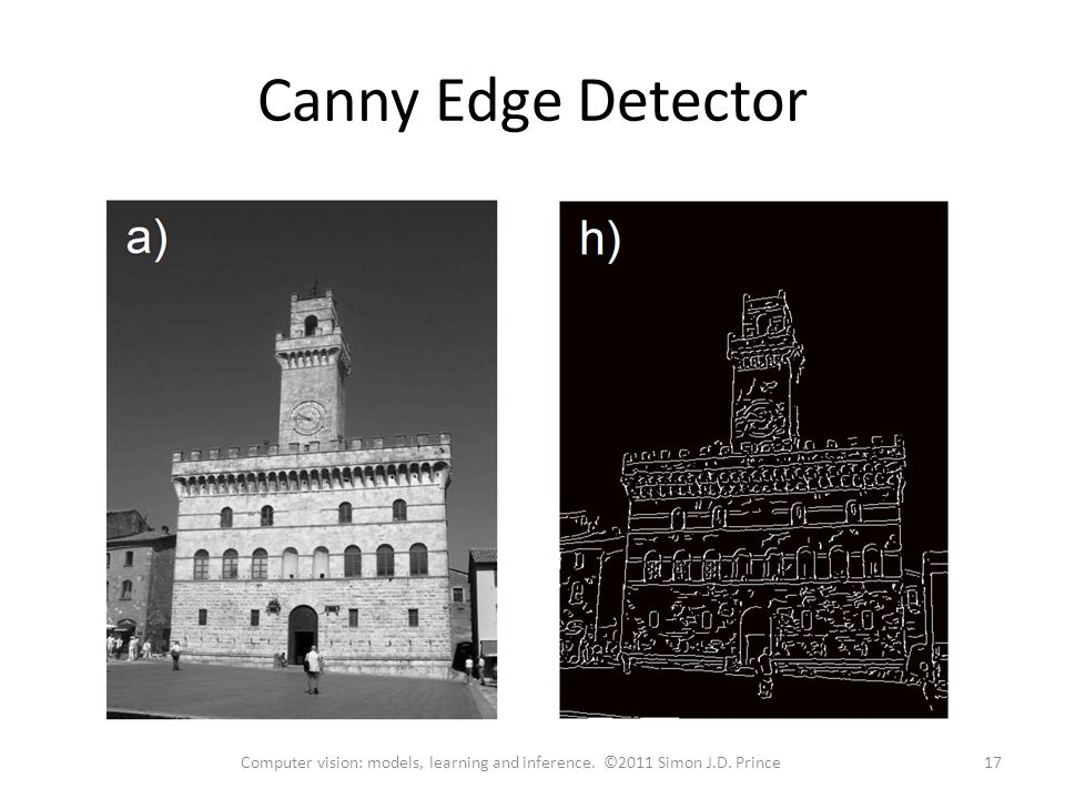 Canny Edge Detector 17Computer vision: models, learning and inference. ©2011 Simon J.D. Prince