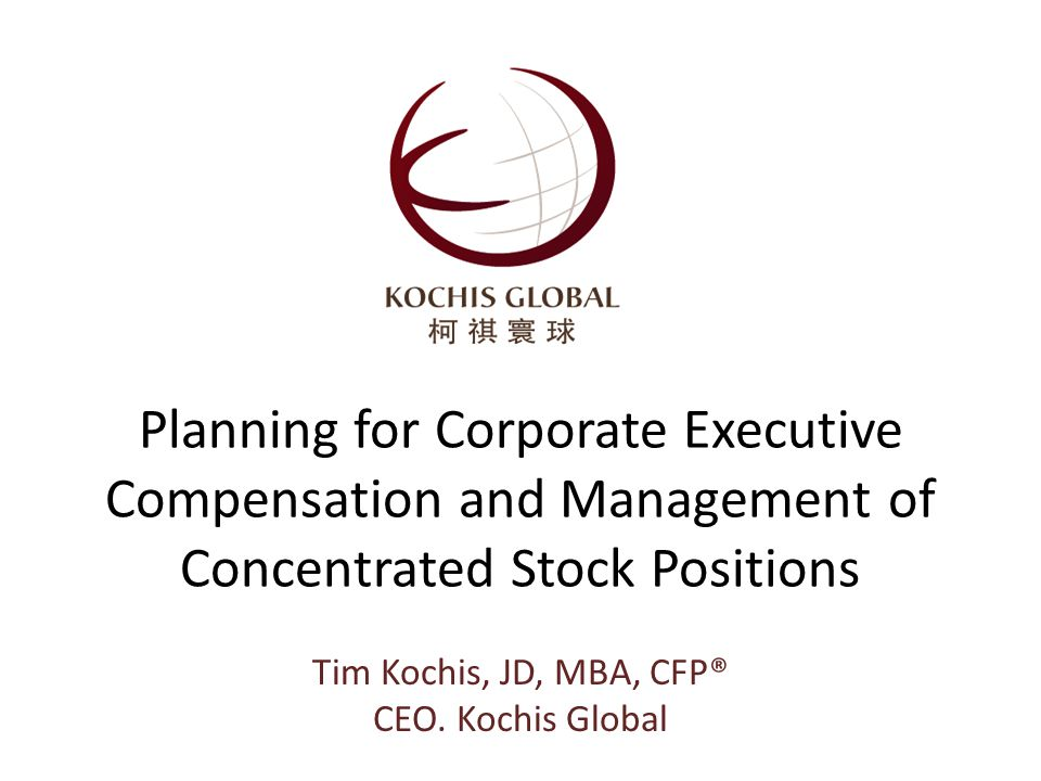 Concentration Management Techniques Start with the Simplest solution first Partial Solution/Combinations are OK… walk before you run! 22 Tim Kochis, JD, MBA, CFP ®