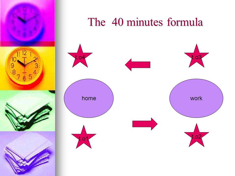 The 40 minutes formula homework t.o1 t.o2 t.o3t.o4