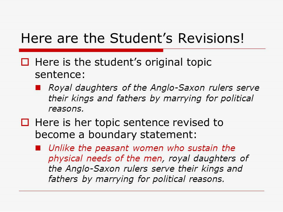Here are the Student's Revisions.
