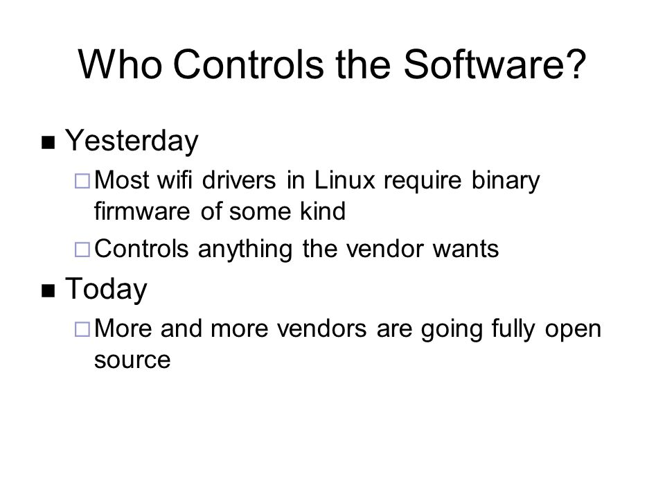 Who Controls the Software.