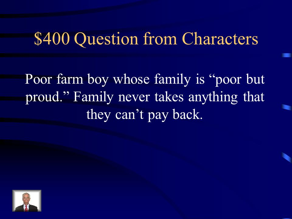 $300 Answer from Characters Stephanie Crawford