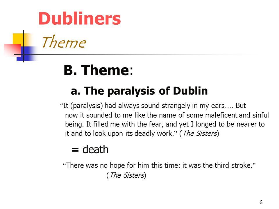 6 Dubliners Theme B. Theme: a.