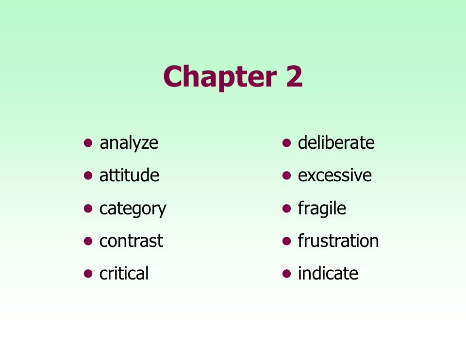TEN WORDS IN CONTEXT Analyze means A.to plan. B. to study.