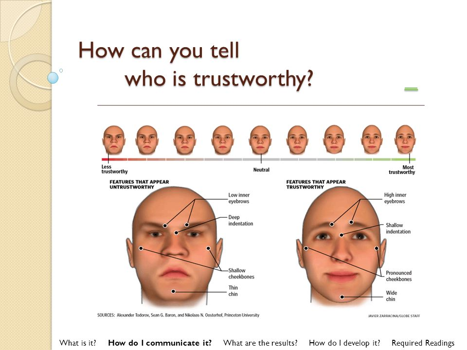 How can you tell who is trustworthy _ _ What is it.
