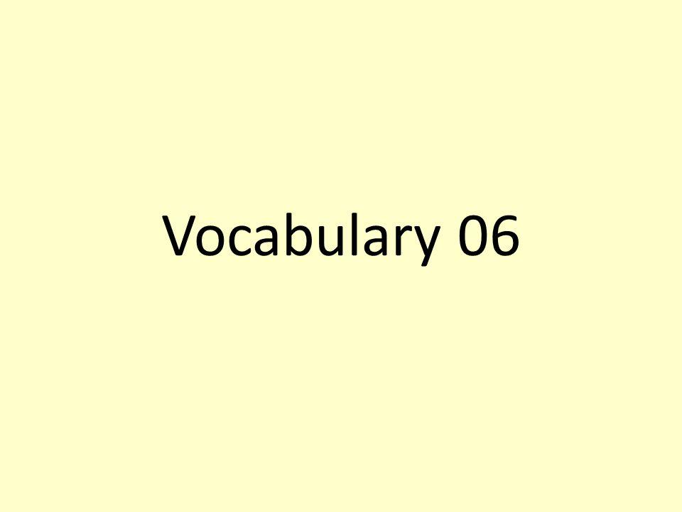 Vocabulary 06