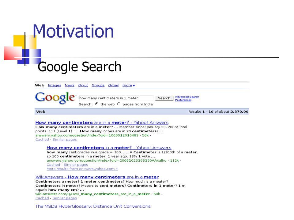 Motivation Google Search