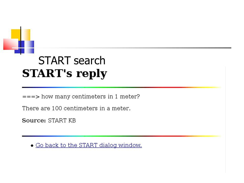 START search