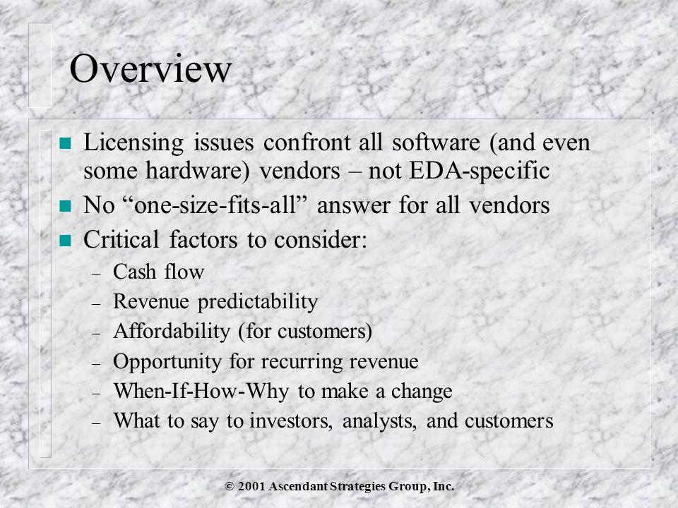 © 2001 Ascendant Strategies Group, Inc.