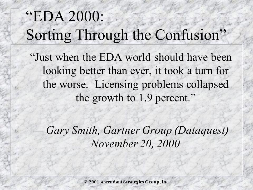 © 2001 Ascendant Strategies Group, Inc.EDA 2001: Growing or not.