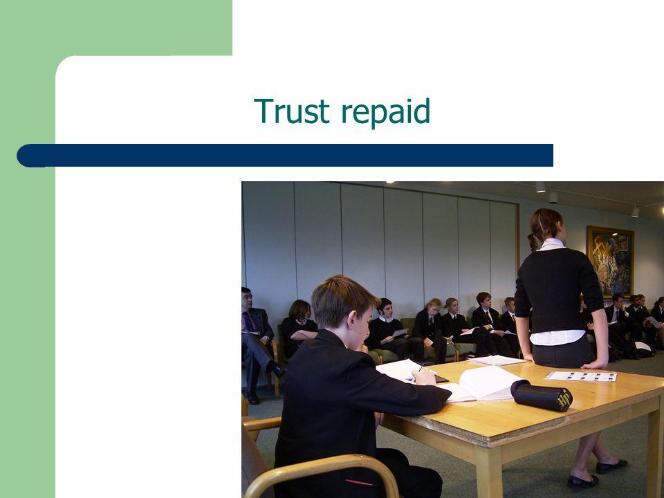 Trust repaid