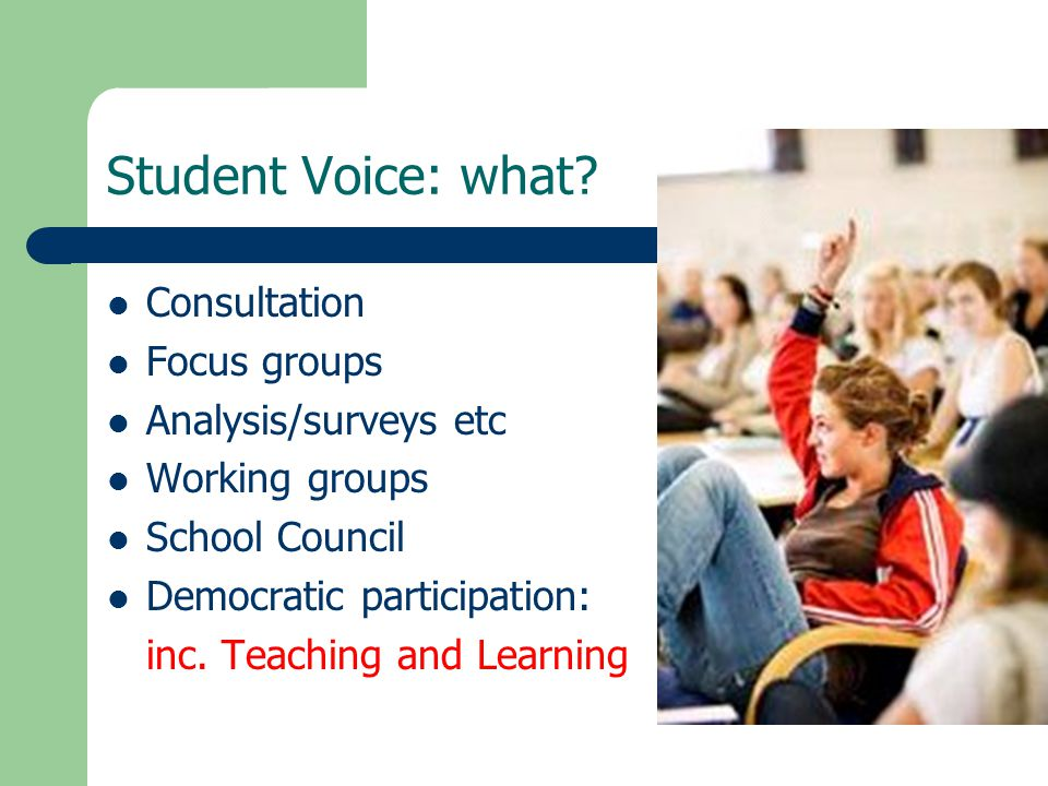 Student Voice: what.