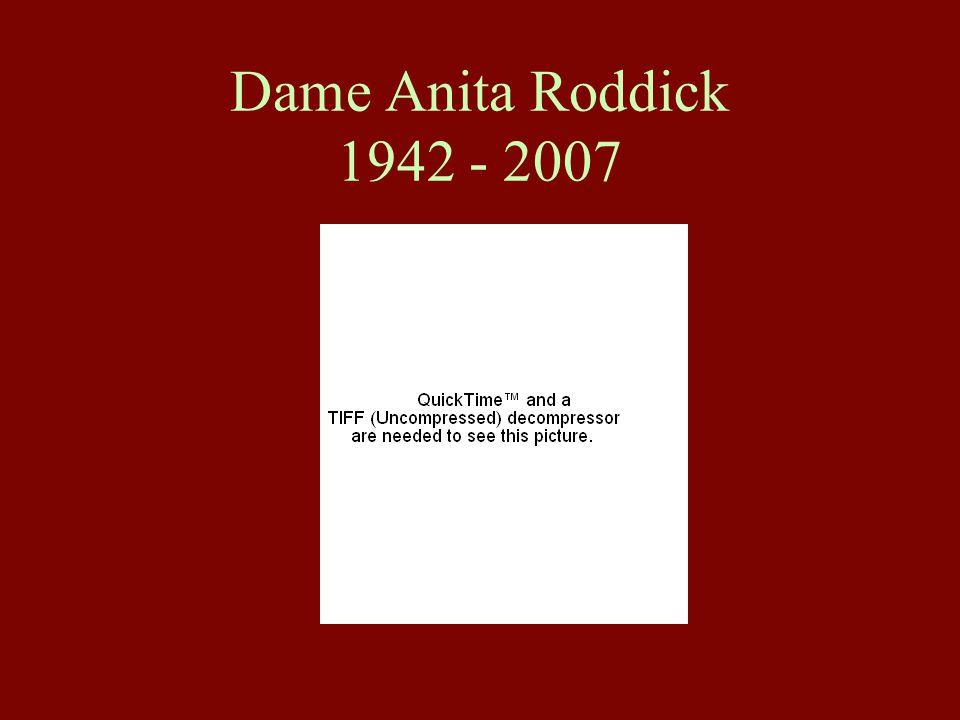 Dame Anita Roddick 1942 - 2007