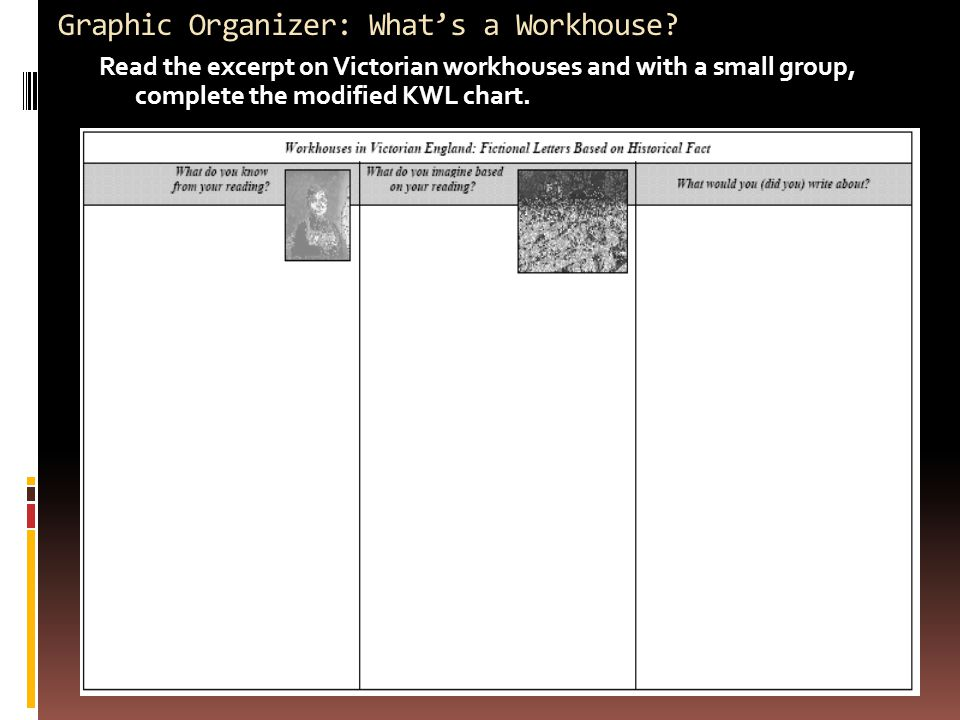 Graphic Organizer: What's a Workhouse.