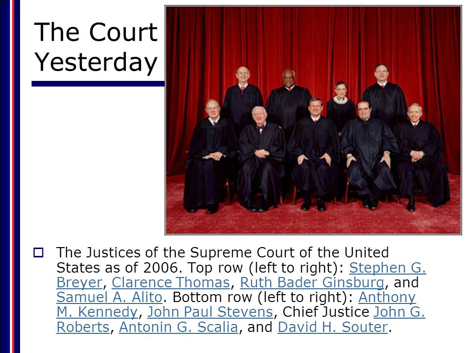 The Structure of the Federal Judicial System  The Supreme Court 9 justices – 1 Chief Justice, 8 Associate Justices Supreme Court decides which cases it will hear Some original jurisdiction, but mostly appellate jurisdiction.