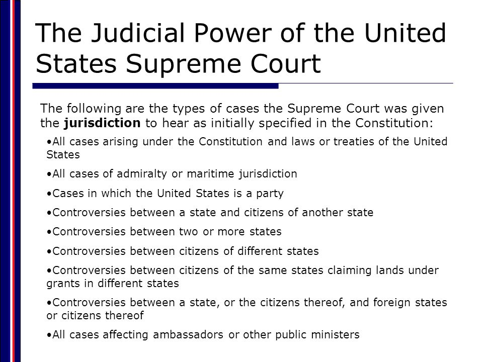 The Federal Court System  Constitutional courts Federal courts specifically created by the U.S.
