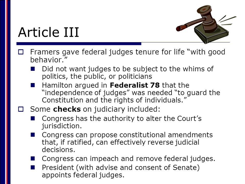 The Judiciary Act of 1789 and the Creation of the Federal Judicial System  Established the basic three-tiered structure of the federal court system District courts: at least one in each state, each staffed by a federal judge.