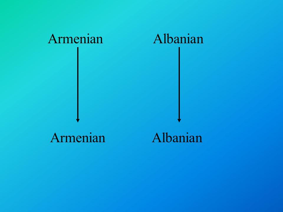 Armenian Albanian
