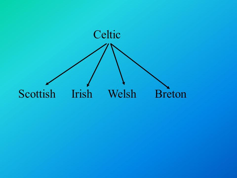 Celtic Scottish Irish Welsh Breton