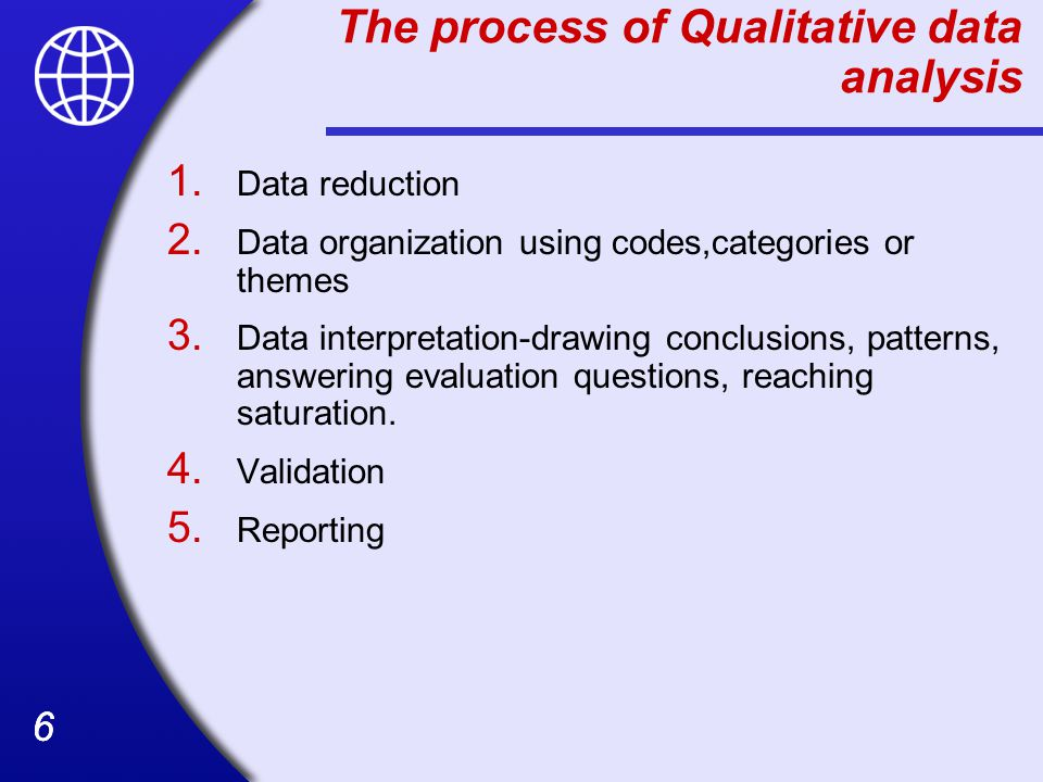 27 Practical Advice in Conducting Qualitative Analyses Start the analysis right away and keep a running account of it in your notes: Analysis should begin almost in tandem with data collection, and that it is an iterative set of processes that continues over the course of the field work and beyond.