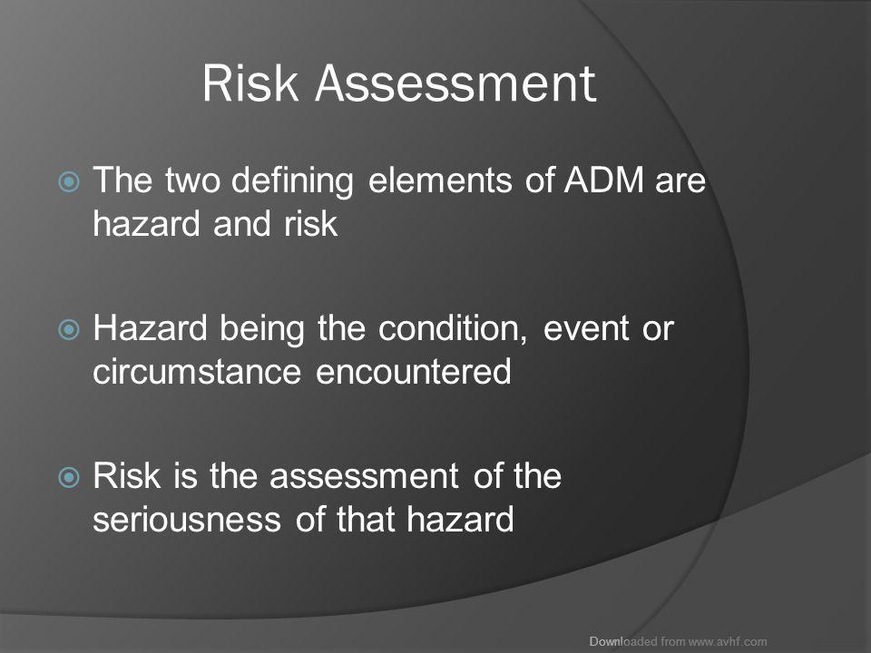 Downloaded from www.avhf.com Hazardous Attitudes  Risk You do stupid stuff!.