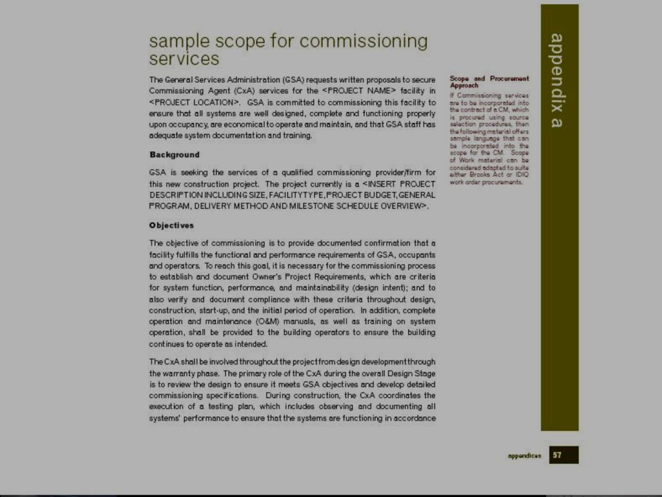 21 Opportunities in Commissioning General Services Administration Our Definitive Policy Document: